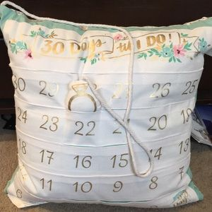 Other - 👰🏼Wedding countdown pillow